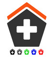 hospital flat icon vector image vector image