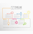 Infographic timeline report template with lines