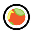 isolated colored sushi vector image vector image
