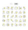 line icons holi vector image