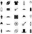 man icon set vector image vector image