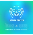 medical center health card flyer beauty salon vector image