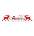 merry christmas and happy new year flyer vector image vector image