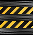 metal perforated texture under construction vector image vector image