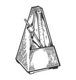 metronome tool engraving vector image vector image