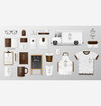 mockup set for coffee shop cafe or restaurant vector image