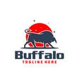mountain bull animal logo vector image vector image