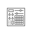 music console audio mixer line icon vector image