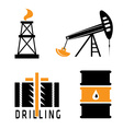 oil industry design template vector image
