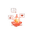opinion social networks rate communication vector image
