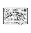 ouija spirit talking board sketch vector image