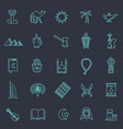 outline icons set - islam collection vector image