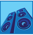 powerful speaker system vector image vector image