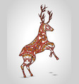 reindeer mandala boho style vector image vector image