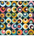 retro circle seamles pattern vector image