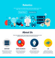 robotics website design vector image