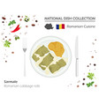 Romanian cuisine european national dish vector image