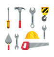 set construction tools to maintenance service vector image