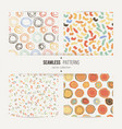 set of abstract chaotic seamless patterns vector image