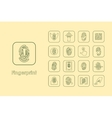 Set of fingerprint simple icons vector image