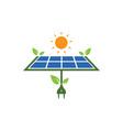 solar panel logo icon natural energy vector image vector image