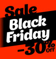 square banner black friday sale poster on an vector image vector image