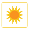 Sun icon Light sign yellow design vector image