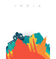 travel india 3d paper cut world landmarks vector image vector image