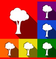 tree sign set of icons with vector image