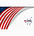 usa color template vector image vector image