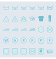 washing and ironing clothes color flat icon set vector image