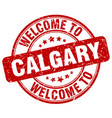 welcome to calgary red round vintage stamp vector image vector image