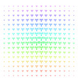 wi-fi station icon halftone spectrum grid vector image vector image