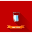 with a glass of water in flat design style with vector image vector image