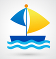 yacht icon vector image vector image