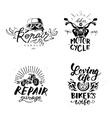 Set of vintage motorcycle emblems labels badges vector image