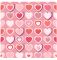 Seamless background with pink paper hearts eps10 vector image