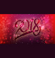 2018 happy new year year of a yellow dog on a vector image vector image