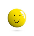 3d realistic and hand drawn emoticon or smile vector image vector image