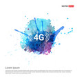 4g icon - watercolor background vector image vector image