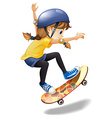 A female skateboarder vector image vector image