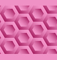 abstract background pink hexagons vector image vector image