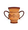 ancient handmade greek krater vase with handles vector image vector image