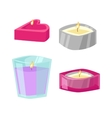 Aroma candle vector image vector image