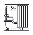 bathroom line icon sign on vector image