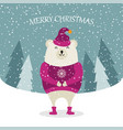 beautiful flat design christmas card with dressed vector image vector image