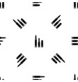 bullets pattern seamless black vector image vector image