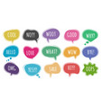 cartoon chat words set vector image