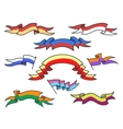 Cartoon colorful ribbons set vector image