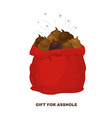 Christmas Gifts for bad people Santa Claus with vector image vector image